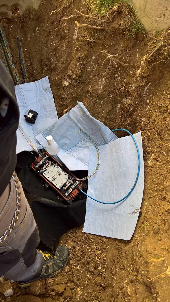 Réparation de Fibre sur un parc Éolien 0